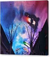 Downtown Vegas Night Canvas Print