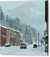 Downtown Wallace In Winter 2017 Canvas Print