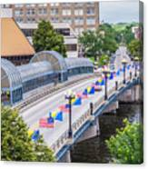 Downtown Waterloo Iowa Bridge Canvas Print