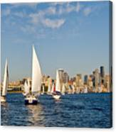 Downtwon Seattle Waterfront Canvas Print