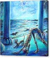 Downward Dog Canvas Print