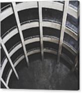 Downward Spiral - Looking Down Parking Garage Canvas Print