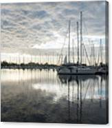 Downy Soft Clouds At The Marina Canvas Print