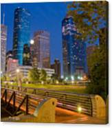 Dowtown Houston By Night Canvas Print