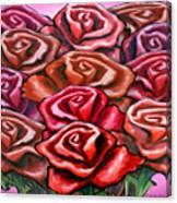 Dozen Roses Canvas Print