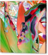 Abstracted Leaf Patterns #1  Ref. Dp67  Canvas Print