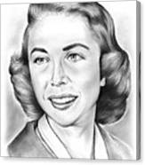 Dr. Joyce Brothers Canvas Print