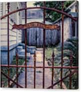 Dr. Lines Gate - Nola Canvas Print