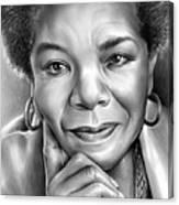 Dr Maya Angelou Canvas Print
