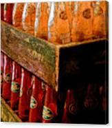 Dr. Pepper Bottles Canvas Print