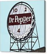 Dr Pepper Landmark Sign Roanoke Virginia Canvas Print
