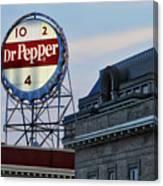 Dr Pepper Sign Canvas Print
