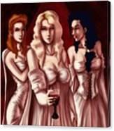 Dracula's Brides Canvas Print