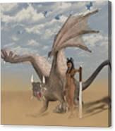 Dragon And Master Canvas Print