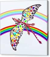 Dragon And Rainbow Canvas Print