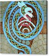 Dragon And The Circles Canvas Print