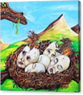 Dragon Babies Canvas Print