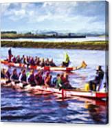 Dragon Boats Canvas Print