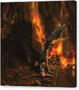 Dragon Flame Canvas Print