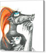 Dragon Mom Canvas Print