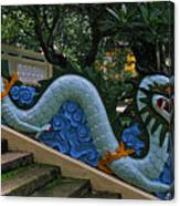 Bao Tang Temple Railing In Ho Chi Minh City Canvas Print