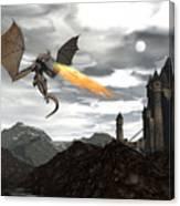 Dragon Scenery - 3d Render Canvas Print