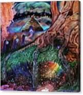 Dragon Under The Hill Canvas Print