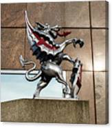 Dragon With Red Cross Canvas Print