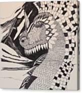 Dragon - Zentangle 16-04 Canvas Print
