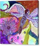 Dragonfly And Mum Canvas Print