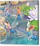 Dragonfly Races Canvas Print
