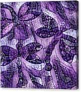Dragons In Lavender Mosaic Canvas Print