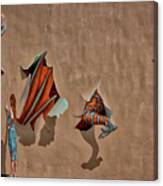 Dragons In The Railyard - Santa Fe #2 Canvas Print