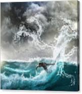 Dragon's Soul Surfer Canvas Print