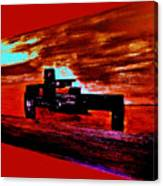 Dragster At The Strip Canvas Print