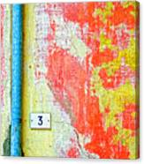 Drainpipe Amazing Wall And Number Three Canvas Print