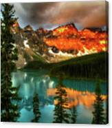 Drama Of The Canadian Rockies Canvas Print
