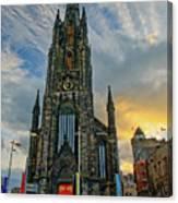 Dramatic Edinburgh Sunset At The Hub In Scotland  Canvas Print