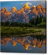 Dramatic Grand Teton Sunrise Canvas Print
