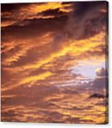 Dramatic Orange Sunset Canvas Print