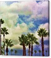 Dramatic Palms Canvas Print