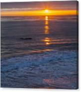 Dramatic Ocean Reflection Of Color Canvas Print