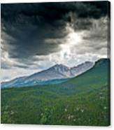 Dramatic Skies In Rocky Mountain National Park Colorado Canvas Print