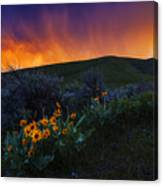 Dramatic Spring Sunset In Boise Idaho Usa Canvas Print
