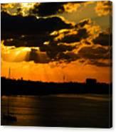 Dramatic Sunrise At Nassau Canvas Print