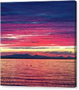 Dramatic Sunset Colors Over Birch Bay Canvas Print