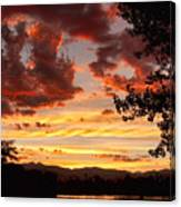 Dramatic Sunset Reflection Canvas Print