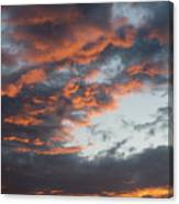 Dramatic Sunset Sky With Orange Cloud Colors Canvas Print
