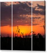 Dramatic Sunset Triptych Canvas Print
