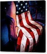 Draped American Flag Canvas Print